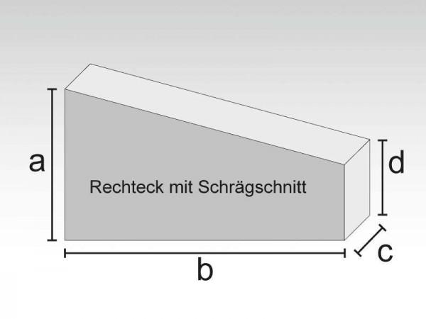 Schaumstoff Rechteck mit Schrägschnitt