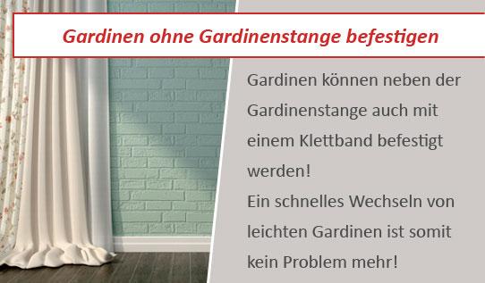 Befestigen Sie Gardinen mit einem Gardinen Klettband | balzer24.de