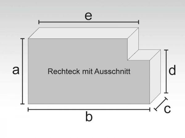 Schaumstoff Rechteck mit Ausschnitt