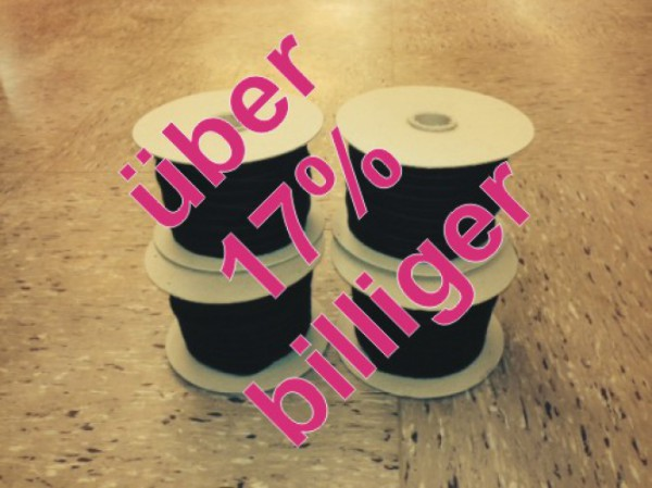 Flauschband 10mm breit, flaschengrün, 100m