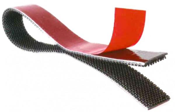 Klettband Druckverschluss 25mm breit selbstklebend, 1 Stück = 25 Meter